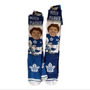 2 FBF Originals Maple Leafs Mitch Marner Socks L